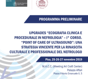 UPGRADES -ECOGRAFIA CLINICA E PROCEDURALE IN NEFROLOGIA – I CORSO
